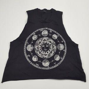 John Galt Brandy Melville Cropped Muscle T Shirt